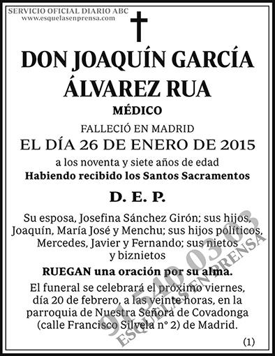 Joaquín García Álvarez Rua